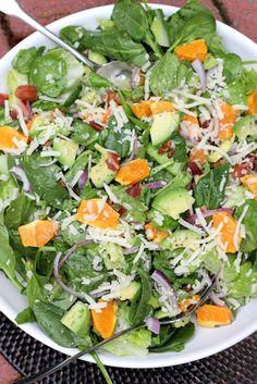 Spinach Mandarin Poppy Seed Salad