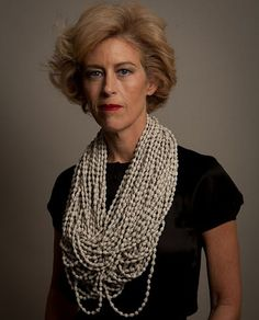 Necklace made entirely from ALL the pages of Gone With the Wind. Artist:  Simryn Gill: Pearls  tracy@tracywilliamsltd.com