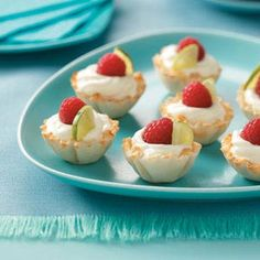 Key Lime Mousse Cups Recipe from Taste of Home -- shared by Suzanne Pauley of Renton, Washington
