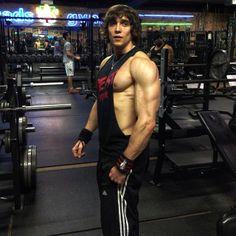 Gym HUNK in tight tanktop