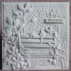 stamp, white card, paper craft, memori box, park benches, simon says, challeng, card sympathi, beauti card