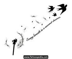 dandelion tattoo more tattoo ideas quotes dandelions tattoo body art ... Dandelion Bird Tattoo On Side