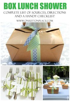 Shows you how (from start to finish) to pull off a gorgeous box lunch shower or party. All the sources are listed along with a great check-list!