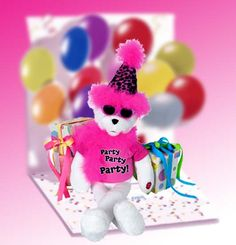 Get The Party Started with our Get The Party Started Bear   Plush Gift This singing diva says it all and will truly make them smile. Great as a birthday gift or any occasion you feel is appropriate Ouranimated Get The Party Started Bear   is sure to be the life of any party. This party diva is 15 talloverall and is animated and sings too!   http://www.littlegiftbasketboutique.com/item_389/Get-The-Party-Started-Bear-Plush-Gift.htm