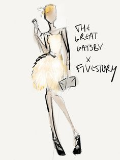 The Great Gatsby Costume Sketch - Designer Collabs That Should Be Real, Movie Edition : Lucky Magazine