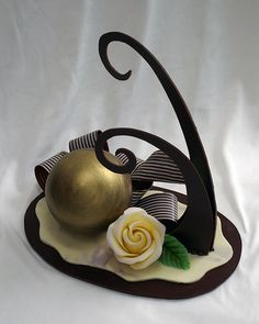 chocolate sculpture from Big Fat Cook