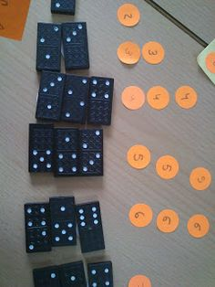 Sumas con dominó en Infantil. Sumas ordenadas por resultado.