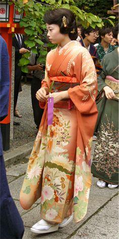 Kushi-Matsuri (Kushi-festival) ~ Kyoto Japan.  Taisyo-era style lady.