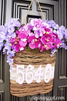 Radiant Orchid DIY Spring Door Decoration