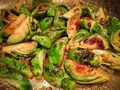 Maple Roasted Brussel Sprouts! food recipes, mapl brussel, foods, brussel sprout, brussels sprouts, mapl roast, lesli durso, vegetarian cooking, durso food