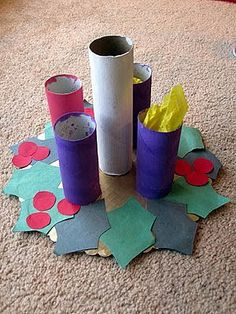 corona, candles, advent craft, religious christmas craft, children, advent wreaths, cut outs, ccd, kid crafts