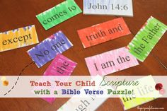 The Purposeful Mom: Teach Your Kids Scripture with a Bible Verse Puzzle!