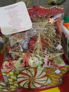 Christmas Gift Box or Auction Basket idea.