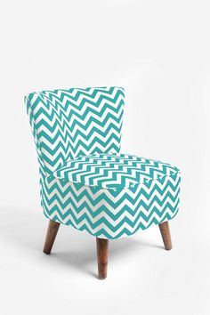 chevron chevron patterns, turquoise chair, living rooms, design homes, urban outfitters, hous, accent chairs, ziggi chair, chevron stripes