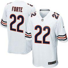 $89.99 Men's Nike Chicago Bears #22 Matt Forte Limited White Jersey