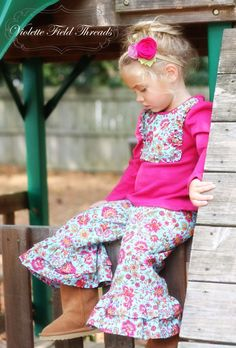 PDF Pattern & Tutorial, (Lucy capri pants & Rosalind flower also pictured)