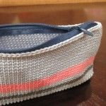 Quick and easy way of adding a zip to a crochet pouch - tutorial
