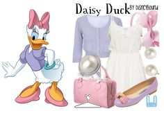 jacieland: disney-inspired outfits! Mice, Disney Outfits, Disney Inspired Outfits, Dresses, Ducks, Daisies, Daisi Duck, Accessories, Disneyinspir Outfit