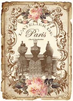 vintage Paris Labels