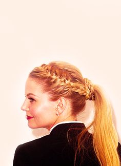braid + ponytail