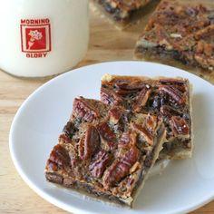 Chocolate Pecan Pie Bars {Recipe}