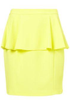 Textured Peplum Skirt