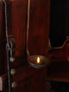 Simplicity~ by lorraine bell, barn light, candle holders, primit cupboard, primitive cupboard, brown, big wood, candl holder, tea lights