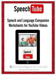 Speech Tube: A YouTube Speech & Language Companion Packet. Repinned by SOS Inc. Resources pinterest.com/sostherapy/.