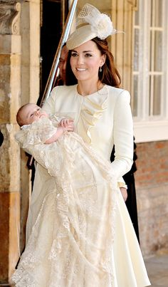 Duchess of Cambridge Kate Middleton looked flawless in Alexander McQueen at Prince George's christening.