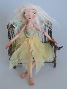 PORCELAIN FAIRY DOLL   handmade jointed doll by Kaeriefaerie52, $195.00