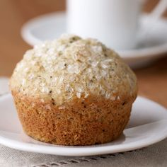 You will definitely go back for more of these Lemon-Poppy Seed Muffins! More healthy breakfast recipes: http://www.bhg.com/recipes/healthy/breakfast/heart-healthy-breakfast-recipes/?socsrc=bhgpin072613muffin=25