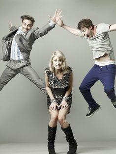 Emun Elliott, Stephen Wight & Amy Huberman in 'Threesome' the funniest show on television