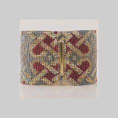 Loom Bead Pattern - Celtic Hearts Cuff Bracelet