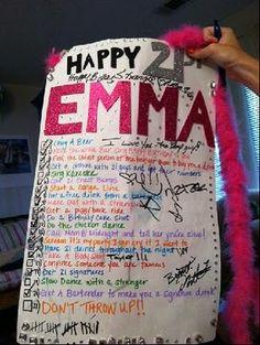 Screw the shot book! I wanna 21st birthday list! They look like so much fun! (: @Brooke Baird Baird Baird Baird Meade