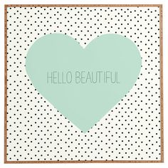 Add a charming touch to your master suite or powder room with this lovely canvas print, showcasing a heart and polka-dot motif with typographic details....
