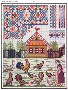Russian embroidery patterns