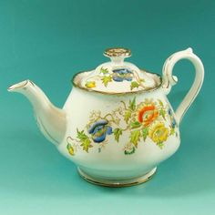 Beautiful 1940s Vintage Hand Coloured Royal Albert 2 3 Cupteapot