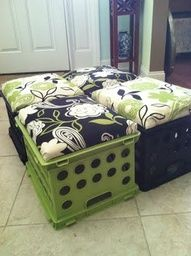 Love these crate seats... smart!!  :)