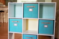 Aqua DIY storage unit. #aqua #baby #nursery #furniture