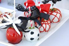 Fun idea for UGA themed candy apples