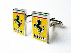 Ferrari Cufflinks   Stainless steel by LondonDesign on Etsy, £10.99