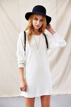 Urban Renewal Ribbed XL Tunic - Urban Outfitters