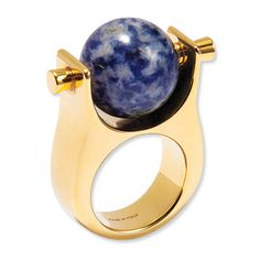 Luxe Stuff - Natural Stone and Gold-plated Ring from #InStyle