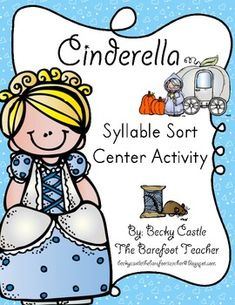 Cinderella Syllable Word Sort Center Activity, 1-4 Syllables...46 Word/Picture cards & 4 boards