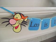 Tigger Birthday Banner High Chair Banner I by CreativePartyBanners, $12.00