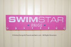 Swimming Ribbon Display Hanger -  Customization & Personalization Available
