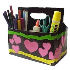 Make a Recycled Craft Carry-All to keep your craft supplies organized.