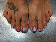 Plaid Toes by TriciaBaldwin - Nail Art Gallery nailartgallery.nailsmag.com by Nails Magazine www.nailsmag.com #nailart