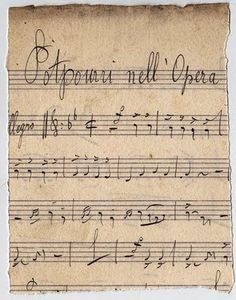 Awesome Antique Sheet Music - French Opera
