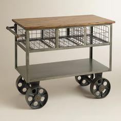 kitchen cart as a craft caddy